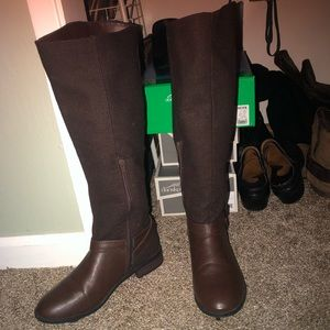 Bamboo knee high riding boots